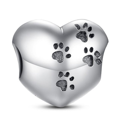 My Sweet Pet Paw Print Charm for Pandora Bracelets