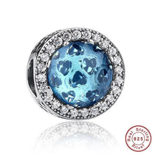Radiant Hearts Charm, Glacial Blue Crystals and White CZ for Pandora Bracelets