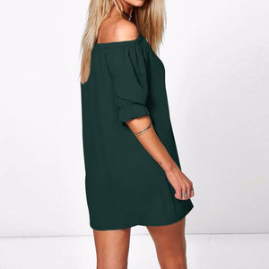 Strapless Half-Sleeve Mini Dress