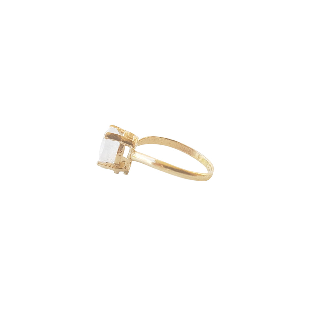 Gold Teardrop Warrior Ring
