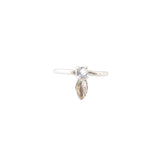 Silver Feather Ring (Moonstone)