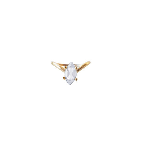 Gold Teardrop Triad Ring (Moonstone)