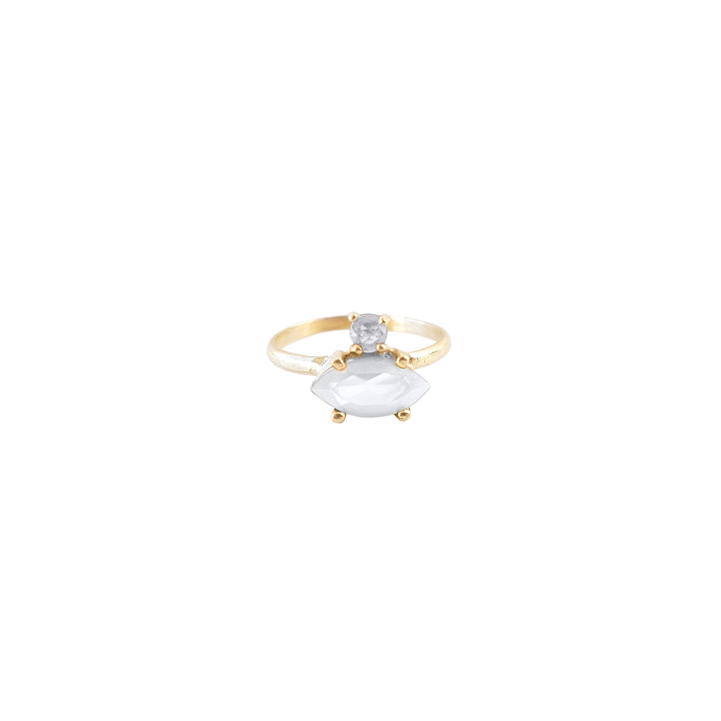 Gold Protector Ring (Moonstone)
