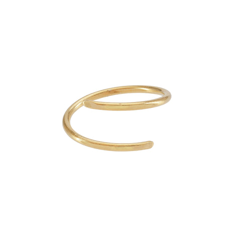 Mini Double Halo Ring Gold