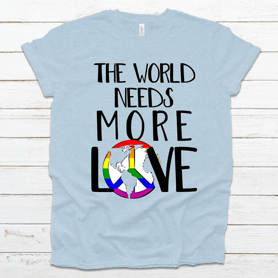 S - The World Needs More Love - Prism Ice Blue