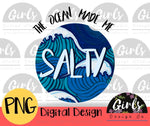 The Ocean Made Me Salty - Digital File-ADDMember, Digital, Digital Design, Digital File, ocean, ocean made me salty, PNG, salt, saltwater, salty, Sublimation, Transfer-Shop-Wholesale-Womens-Boutique-Custom-Graphic-Tees-Branding-Gifts