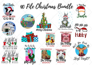 Very Merry Xmas Bundle ~ 40 Files ~ DIGITAL FILE-ChristmasDesign, desser, Digital, Digital Design, Digital File, PNG, Sublimation, SVG, Transfer-Shop-Wholesale-Womens-Boutique-Custom-Graphic-Tees-Branding-Gifts