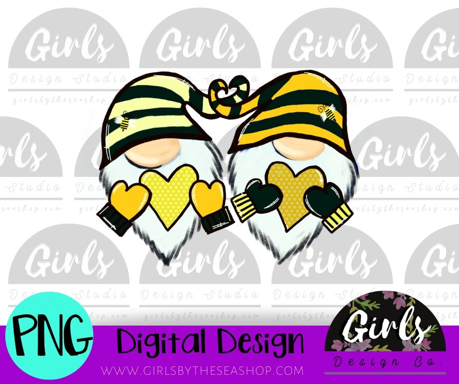 Bee Love Gnome DIGITAL FILE-desser, Digital, Digital Design, Digital File, PNG, springdesign, Sublimation, SVG, Transfer-Shop-Wholesale-Womens-Boutique-Custom-Graphic-Tees-Branding-Gifts