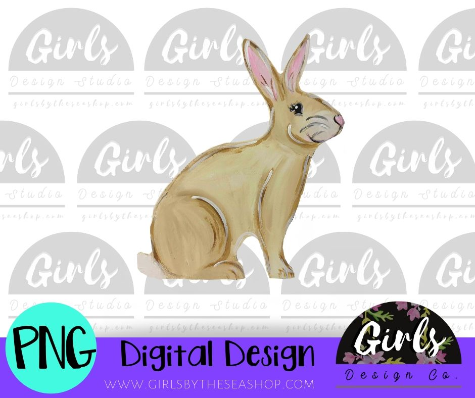 Brown Bunny DIGITAL FILE-desser, Digital, Digital Design, Digital File, PNG, Sublimation, SVG, Transfer-Shop-Wholesale-Womens-Boutique-Custom-Graphic-Tees-Branding-Gifts