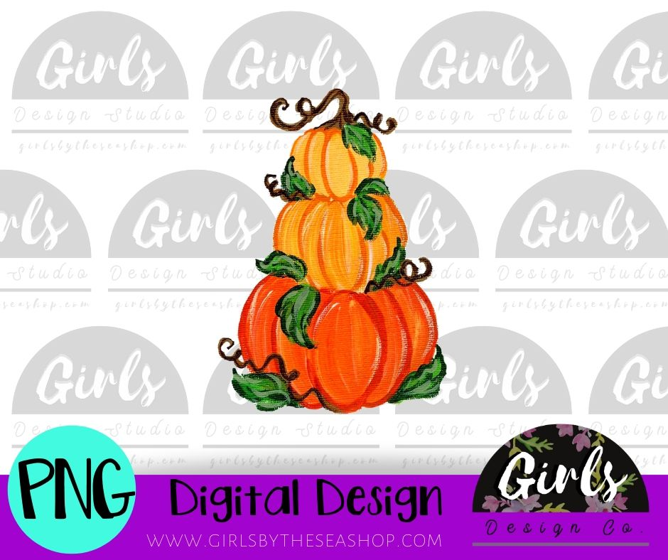 Three Pumpkins DIGITAL FILE
