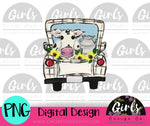 Cow in Truck DIGITAL FILE-desser, Digital, Digital Design, Digital File, FarmDesign, PNG, Sublimation, SVG, Transfer-Shop-Wholesale-Womens-Boutique-Custom-Graphic-Tees-Branding-Gifts