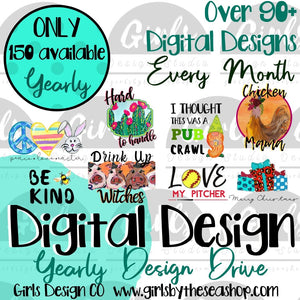 2020 Digital Designs Drive  ~ Digital Files ~ Please Read Full Description
