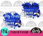 My Heart Belongs To A Police Officer Gnome DIGITAL FILE-desser, Digital, Digital Design, Digital File, PNG, Sublimation, SVG, Transfer-Shop-Wholesale-Womens-Boutique-Custom-Graphic-Tees-Branding-Gifts