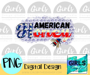 American Honey DIGITAL FILE-#SummerDesign, American, American Honey, Bee, Digital, Digital Design, Digital File, Patriotic, PNG, Sublimation, Summer, SVG, Transfer-Shop-Wholesale-Womens-Boutique-Custom-Graphic-Tees-Branding-Gifts