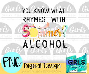 Summer Alcohol DIGITAL FILE-#SummerDesign, ADDMember, Alcohol, Digital, Digital Design, Digital File, PNG, Quote, Sublimation, Summer, SVG, Transfer-Shop-Wholesale-Womens-Boutique-Custom-Graphic-Tees-Branding-Gifts
