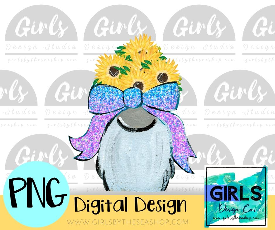 Glitter Bow Sunflowers Gnome DIGITAL FILE-#SummerDesign, desser, Digital, Digital Design, Digital File, Flowers, Glitter Bow, Gnome, PNG, Sublimation, Summer, Sunflowers, SVG, Transfer-Shop-Wholesale-Womens-Boutique-Custom-Graphic-Tees-Branding-Gifts