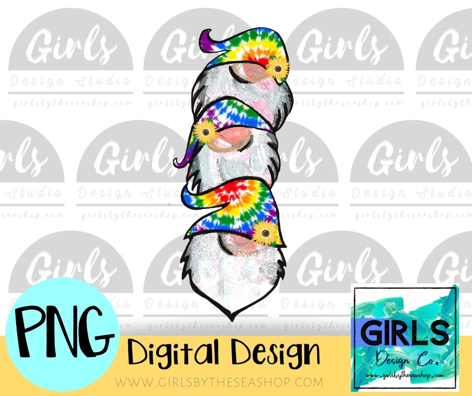 Tie Dye Sunflower Gnomes DIGITAL FILE-#SummerDesign, desser, Digital, Digital Design, Digital File, Gnome, Hat, PNG, Stacked Gnomes, Sublimation, Summer, Sunflowers, SVG, Tie Dye, Transfer-Shop-Wholesale-Womens-Boutique-Custom-Graphic-Tees-Branding-Gifts