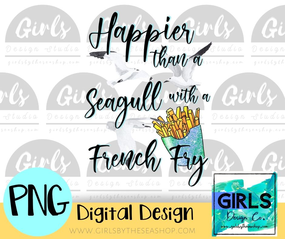 Seagull With A French Fry DIGITAL FILE-#SummerDesign, ADDMember, Digital, Digital Design, Digital File, French Fry, PNG, Seagull, Sublimation, Summer, SVG, Transfer-Shop-Wholesale-Womens-Boutique-Custom-Graphic-Tees-Branding-Gifts