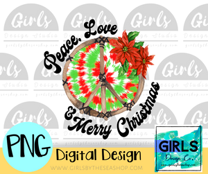 Peace Love Xmas DIGITAL FILE-ChristmasDesign-Shop-Wholesale-Womens-Boutique-Custom-Graphic-Tees-Branding-Gifts