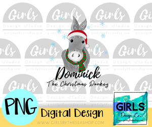 Dominick the Christmas Donkey DIGITAL FILE-Christmas Donkey, ChristmasDesign, Digital, Digital Design, Digital File, Dominick, Donkey, PNG, Sublimation, SVG, Transfer-Shop-Wholesale-Womens-Boutique-Custom-Graphic-Tees-Branding-Gifts