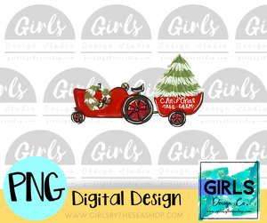 Christmas Tractor and Wagon DIGITAL FILE-Christmas Tree, ChristmasDesign, Digital, Digital Design, Digital File, PNG, Scarf, Sublimation, SVG, Tractor, Transfer, Wagon-Shop-Wholesale-Womens-Boutique-Custom-Graphic-Tees-Branding-Gifts