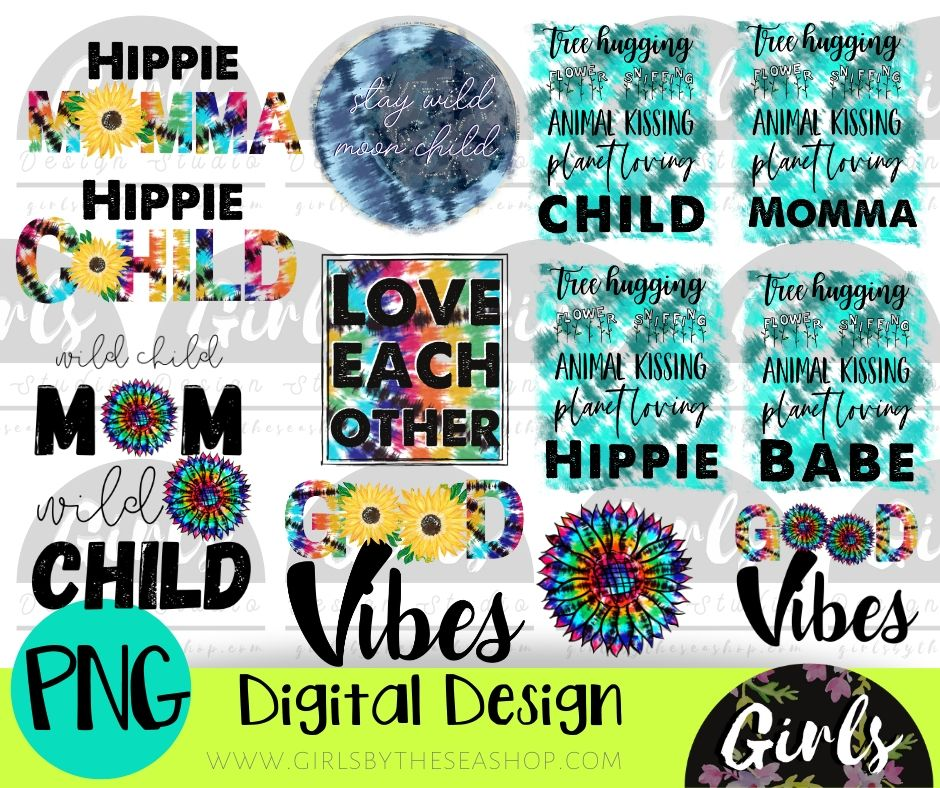 Tie Dye Bundle ~ 13 DIGITAL FILES