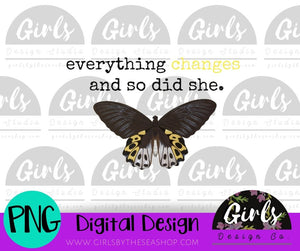 Everything Changes DIGITAL FILE-ADDMember, Butterfly, Changes, Digital, Digital Design, Digital File, Heifer, Love, PNG, Sublimation, Summer, SVG, Transfer-Shop-Wholesale-Womens-Boutique-Custom-Graphic-Tees-Branding-Gifts