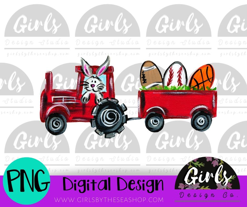 Bunny In Tractor Sports Egg ~ DIGITAL FILE-Baseball Easter Egg, Basketball Easter Egg, Digital, Digital Design, Digital File, Easter Bunny, Easter Eggs, Farm Design, Football Easter Egg, PNG, Sports Eggs, Sublimation, SVG, Tractor, Transfer-Shop-Wholesale-Womens-Boutique-Custom-Graphic-Tees-Branding-Gifts
