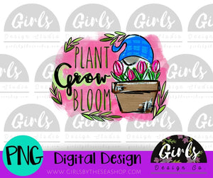 Plant Grow Bloom Gnome ~ DIGITAL FILE