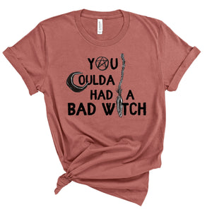 S - Could A Had A Bad Witch - Heather Mauve-sassandsoul-Shop-Wholesale-Womens-Boutique-Custom-Graphic-Tees-Branding-Gifts