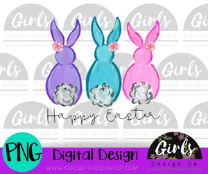 Happy Easter Bunny Tails DIGITAL FILE-desser, Digital, Digital Design, Digital File, PNG, Sublimation, SVG, Transfer-Shop-Wholesale-Womens-Boutique-Custom-Graphic-Tees-Branding-Gifts