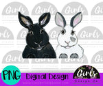 Double Bunny DIGITAL FILE-Bunny, Digital, Digital Design, Digital File, Double, PNG, Sublimation, SVG, Transfer-Shop-Wholesale-Womens-Boutique-Custom-Graphic-Tees-Branding-Gifts