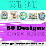 Easter Bundle ~ 5 Exclusive Designs ~ 50 DIGITAL FILES-Digital, Digital Design, Digital File, PNG, Sublimation, SVG, Transfer-Shop-Wholesale-Womens-Boutique-Custom-Graphic-Tees-Branding-Gifts