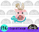 Easter Pig DIGITAL FILE-Bunny Ears, desser, Digital, Digital Design, Digital File, Easter, Pig, PNG, Sublimation, SVG, Transfer-Shop-Wholesale-Womens-Boutique-Custom-Graphic-Tees-Branding-Gifts