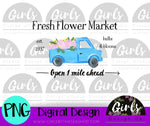 Fresh Flower Market DIGITAL FILE