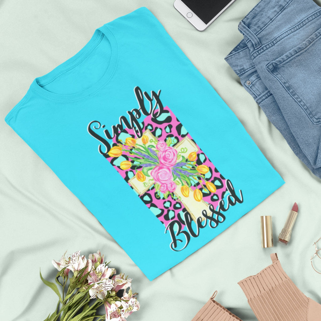 Simply Blessed Easter T-Shirt - Adults-eretailshirt, Gift-Shop-Wholesale-Womens-Boutique-Custom-Graphic-Tees-Branding-Gifts