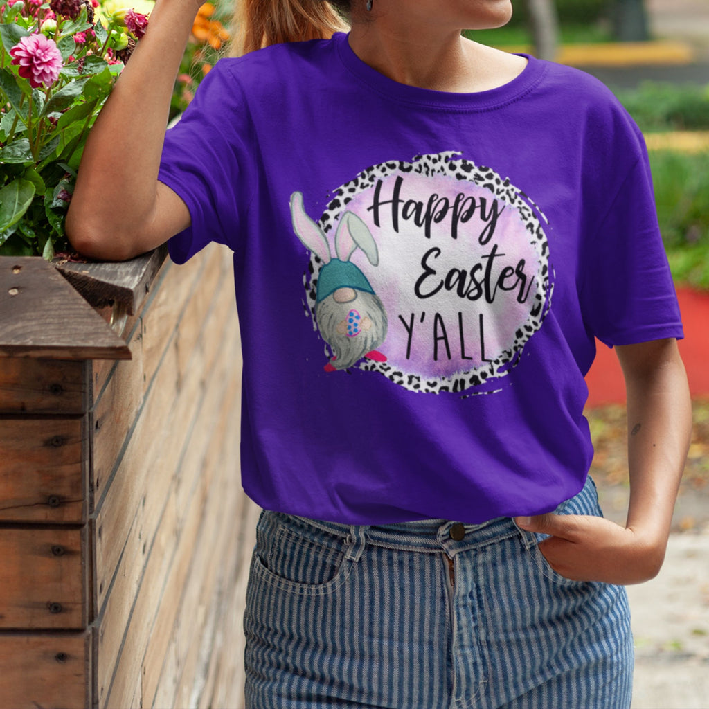 Happy Easter Y'all T-Shirt - Adults-eretailshirt, Gift-Shop-Wholesale-Womens-Boutique-Custom-Graphic-Tees-Branding-Gifts