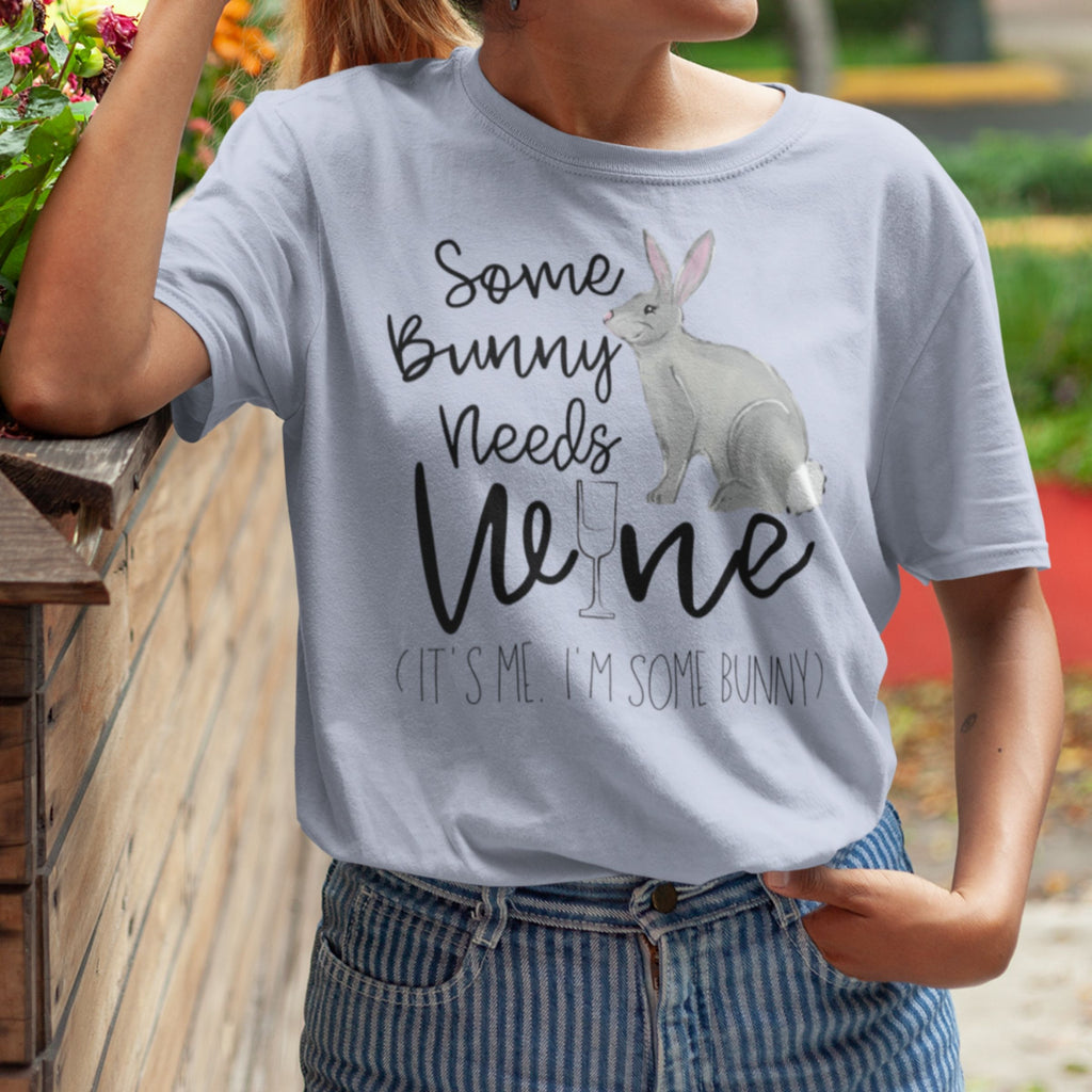 Some Bunny Needs Wine T-Shirt - Adults