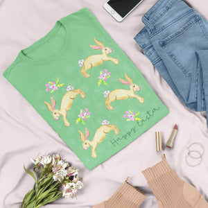 Happy Easter Spring Bunnies T-Shirt - Adults-eretailshirt, Gift-Shop-Wholesale-Womens-Boutique-Custom-Graphic-Tees-Branding-Gifts