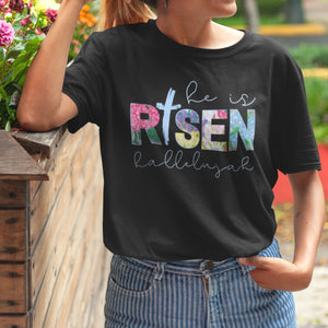 He Is Risen T-Shirt - Adults-eretailshirt, Gift-Shop-Wholesale-Womens-Boutique-Custom-Graphic-Tees-Branding-Gifts