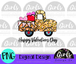 Valentine's Day Leopard Truck DIGITAL FILE-desser, Digital, Digital Design, Digital File, PNG, Sublimation, SVG, Transfer-Shop-Wholesale-Womens-Boutique-Custom-Graphic-Tees-Branding-Gifts