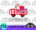 Valentine's Day Plaid Truck DIGITAL FILE-desser, Digital, Digital Design, Digital File, PNG, Sublimation, SVG, Transfer-Shop-Wholesale-Womens-Boutique-Custom-Graphic-Tees-Branding-Gifts