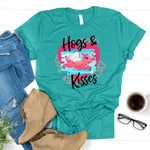 WHOLESALE :: Hogs & Kisses ~ Teal ~ Adult T Shirt-1217-Shop-Wholesale-Womens-Boutique-Custom-Graphic-Tees-Branding-Gifts