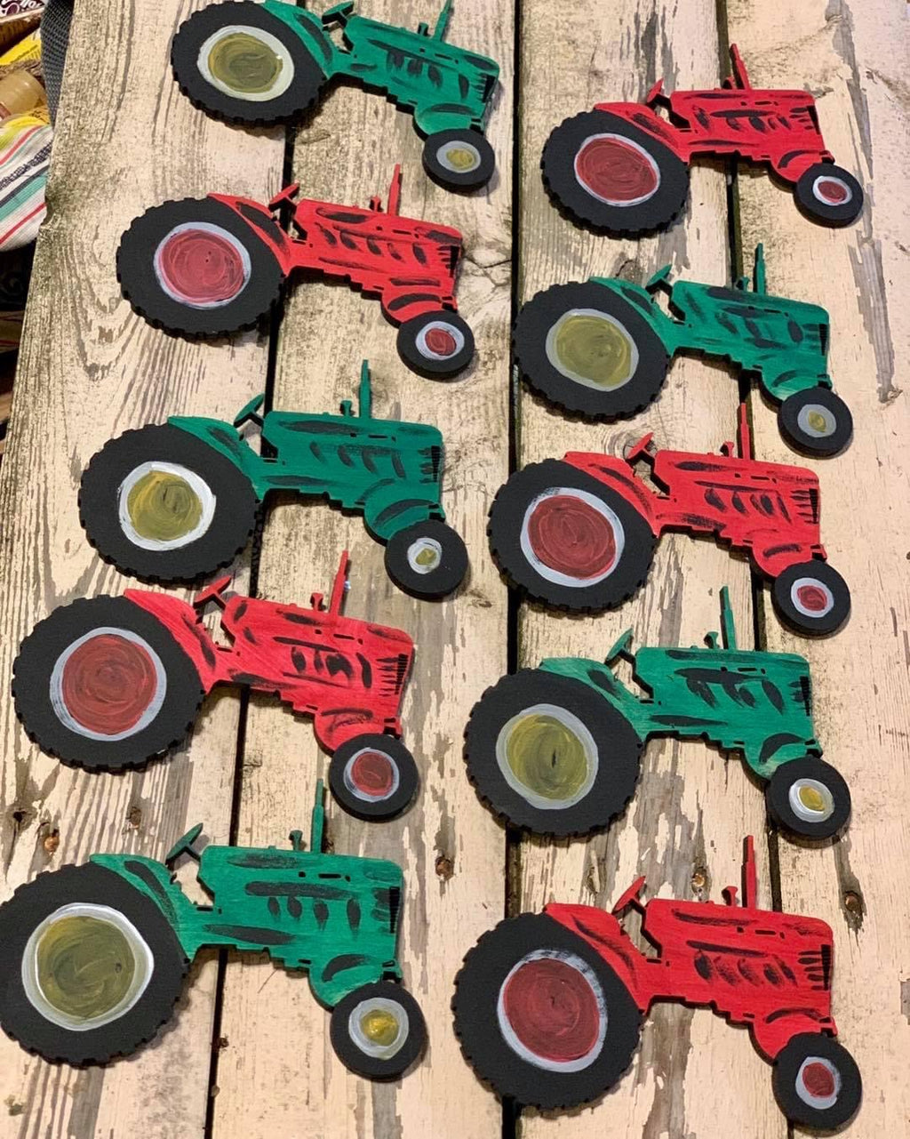 F.P. Tractor Hand Painted Christmas Ornament-Shop-Wholesale-Womens-Boutique-Custom-Graphic-Tees-Branding-Gifts