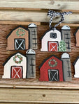 F.P. Holiday Barn Hand Painted Christmas Ornament-Shop-Wholesale-Womens-Boutique-Custom-Graphic-Tees-Branding-Gifts