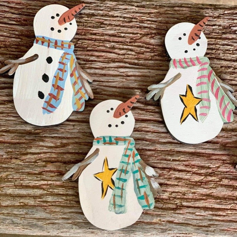 F.P. Snowman Hand Painted Christmas Ornament-Shop-Wholesale-Womens-Boutique-Custom-Graphic-Tees-Branding-Gifts