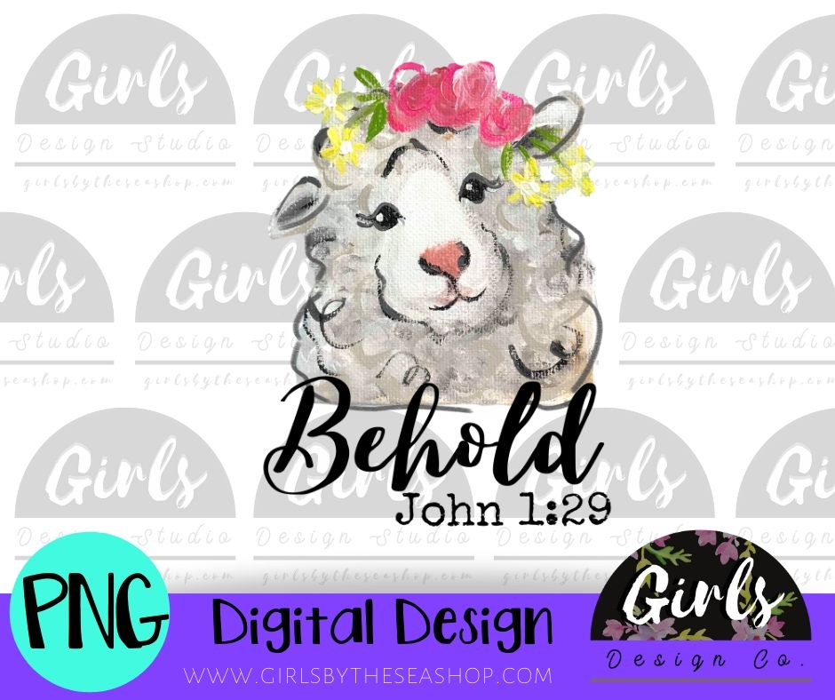 Lamb of God DIGITAL FILE-desser, Digital, Digital Design, Digital File, FarmDesign, PNG, Sublimation, SVG, Transfer-Shop-Wholesale-Womens-Boutique-Custom-Graphic-Tees-Branding-Gifts