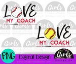 Love My Coach DIGITAL FILE-Baseball, Digital, Digital Design, Digital File, Outfielder, PNG, Softball, Sublimation, SVG, Transfer-Shop-Wholesale-Womens-Boutique-Custom-Graphic-Tees-Branding-Gifts
