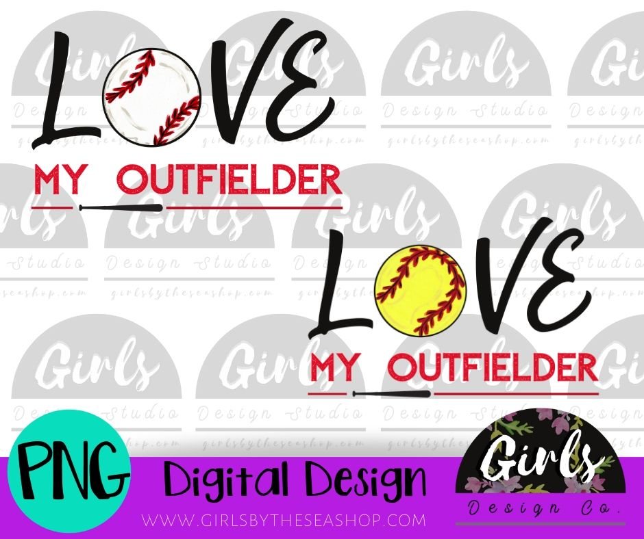 Love My Outfielder DIGITAL FILE-Baseball, Digital, Digital Design, Digital File, Outfielder, PNG, Softball, Sublimation, SVG, Transfer-Shop-Wholesale-Womens-Boutique-Custom-Graphic-Tees-Branding-Gifts