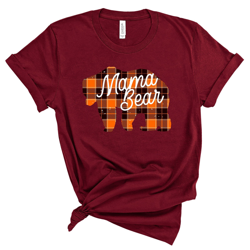 Wholesale :: Mama Bear Plaid ~Cardinal-fallshirt-Shop-Wholesale-Womens-Boutique-Custom-Graphic-Tees-Branding-Gifts